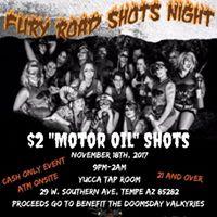 Fury Road Shot Night at Yucca Tap Room