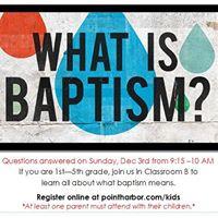Child Bapatism Class
