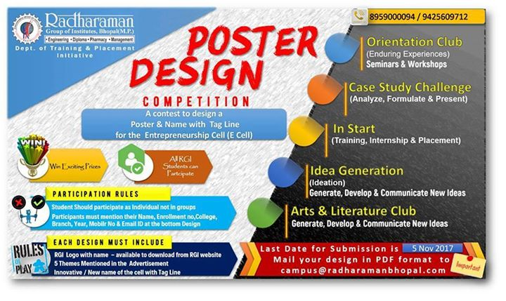 poster design competition at radharaman engineering college bhopal