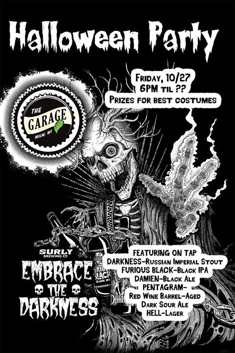 embrace the darkness halloween party