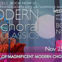 Weston Choral Modern Choral Classics Concert