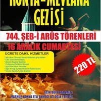 16 Aralk 2017 Cumartesi Konya eb i Arus Trenleri Gezisi