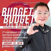 Chinkee Tans Budget Budget Pag May Time Seminar