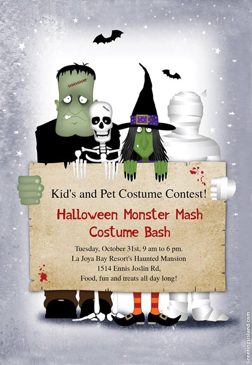 Kids Halloween Monster Mash Costume Bash At La Joya Bay Resort