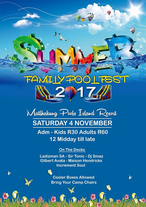 Summer Family Pool Fest 2017 at Matlhakung POOLS Island Resort, Mnandi, Centurion