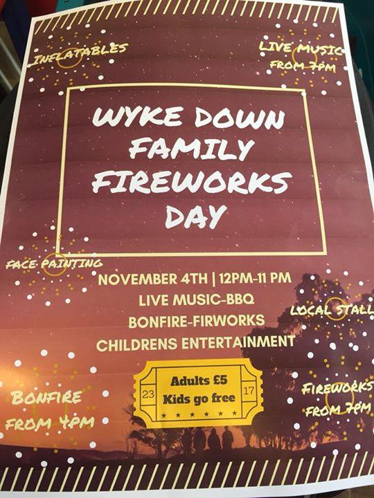 Wyke down family fireworks day