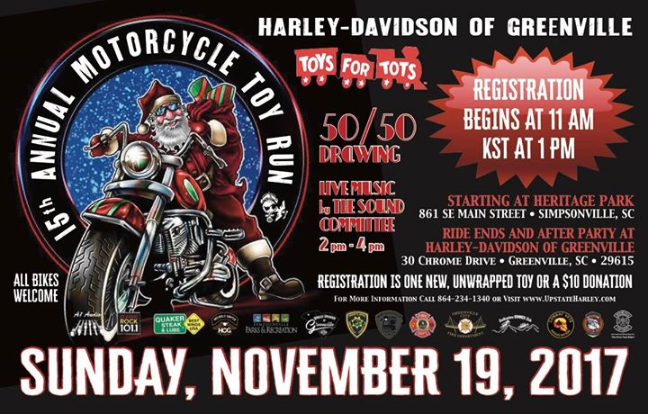 Toys For Tots Motorcycle Events : Toys for tots greenville sc wow