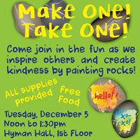 Make One Take One Rock Painting