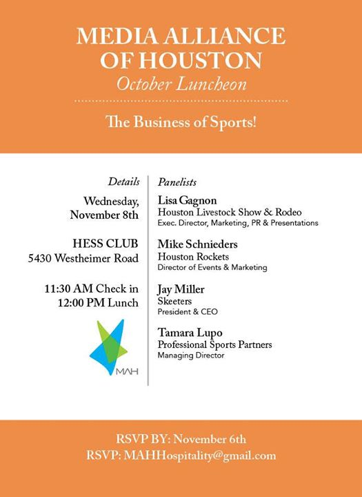 November Luncheon At HESS Club Houston