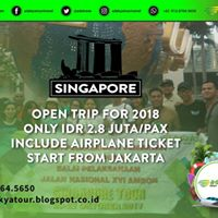 Open trip singapore 2018
