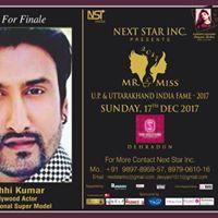 Mr &amp Miss U.p &amp uttarakhand India fame India 2017.