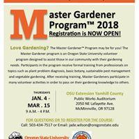 2018 Master Gardener Training