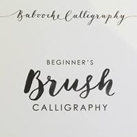 Christmas brush calligraphy and card making workshop