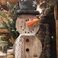Let it Snow-Man 3D Wooden Class
