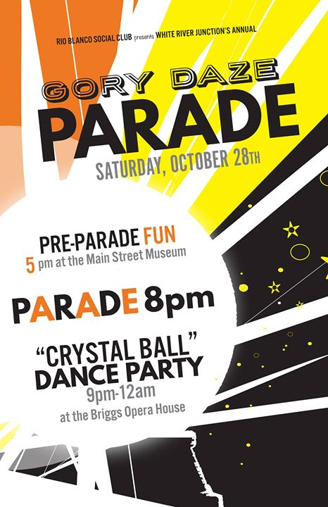 The Engine Room Wrj Vt: Gory Daze Halloween Parade And Crystal Ball At White River