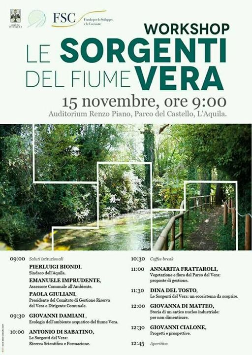 Workshop Le Sorgenti del Vera