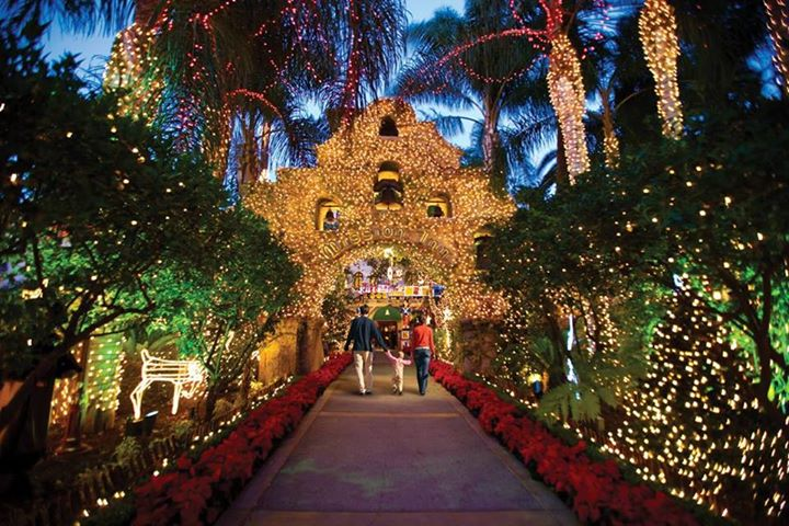 mission inn christmas lights with rcac at the old spaghetti factory riverside - Mission Inn Christmas
