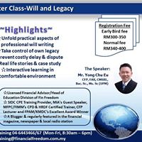SIDC CPE FIMM CPD &amp HRDF Financial Master Class-Will &amp Legacy