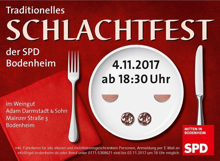 Schlachtfest der SPD Bodenheim 2017
