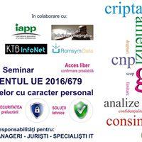Seminar - Impactul GDPR Regulamentul Privind Protecia Datelor
