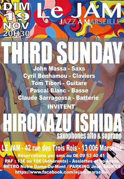John Massa & Third Sunday invitent Hirokazu Ishida