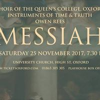 Handel Messiah with The Choir of The Queens College Oxford