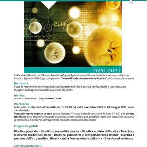 Corso di perfezionamento in Bioetica