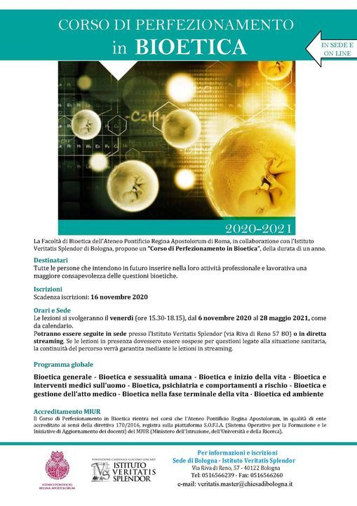Corso di perfezionamento in Bioetica | Event in Bologna | AllEvents.in