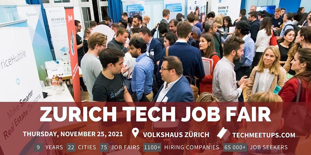 Zurich Tech Job Fair  by Techmeetups, 24 November   Event in Zurich   AllEvents.in