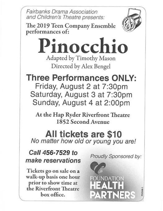 Pinocchio at Fairbanks Drama Association, Fairbanks