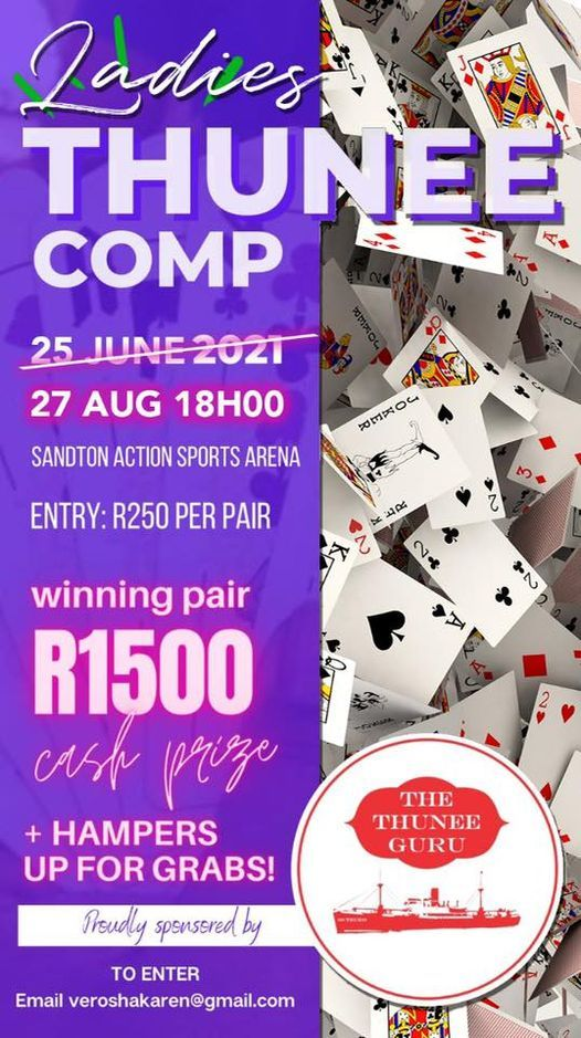Ladies Thunee Competition, 27 August   Event in Sandton   AllEvents.in