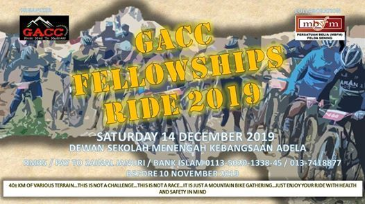 GACC Fellowships Ride 2019 Kota Tinggi 14 Dec 2019