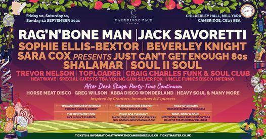 The Cambridge Club Festival 2021, 10 September   Event in Cambridge   AllEvents.in
