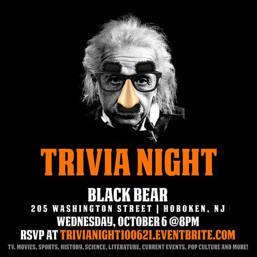 General Trivia Night, 6 October | Event in Hoboken | AllEvents.in