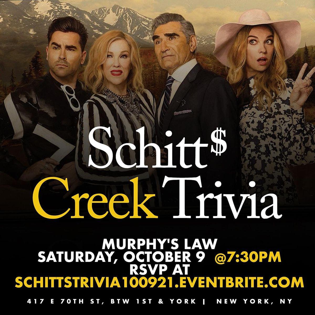 Schitt's Creek Trivia, 9 October | Event in New York | AllEvents.in