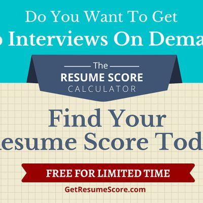 Resume Score Maximizer  Do You Know Your Resume Score  Chennai