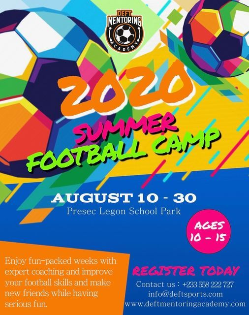 2020 Summer Football Camp in Accra, 9 August   Event in Lome   AllEvents.in