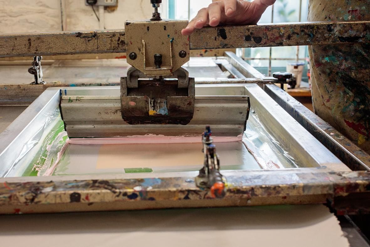 Course Screen-printing 21 July - 25 August  Tuesday 10am  1pm