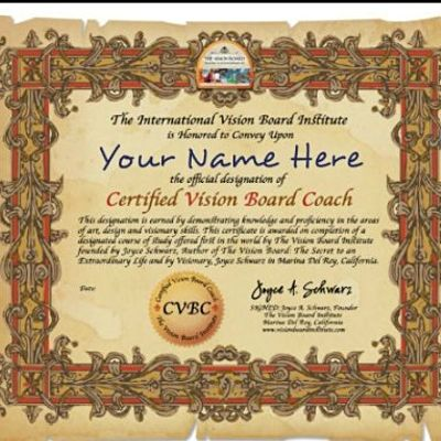 Visionboard Fans Be A Certified Visionboard  Coach