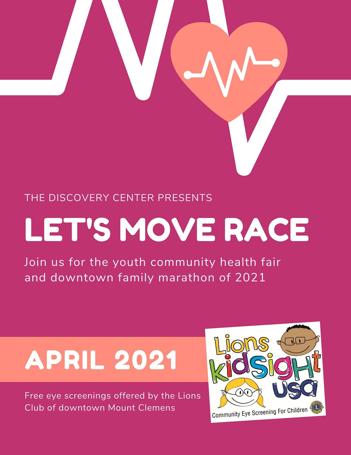 Let's Move Race & Wellness Street Fair, 24 April | Event in Mount Clemens | AllEvents.in