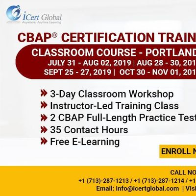 CBAP-Certified Business Analysis Professional Certification Training Course in Portland OR USA.
