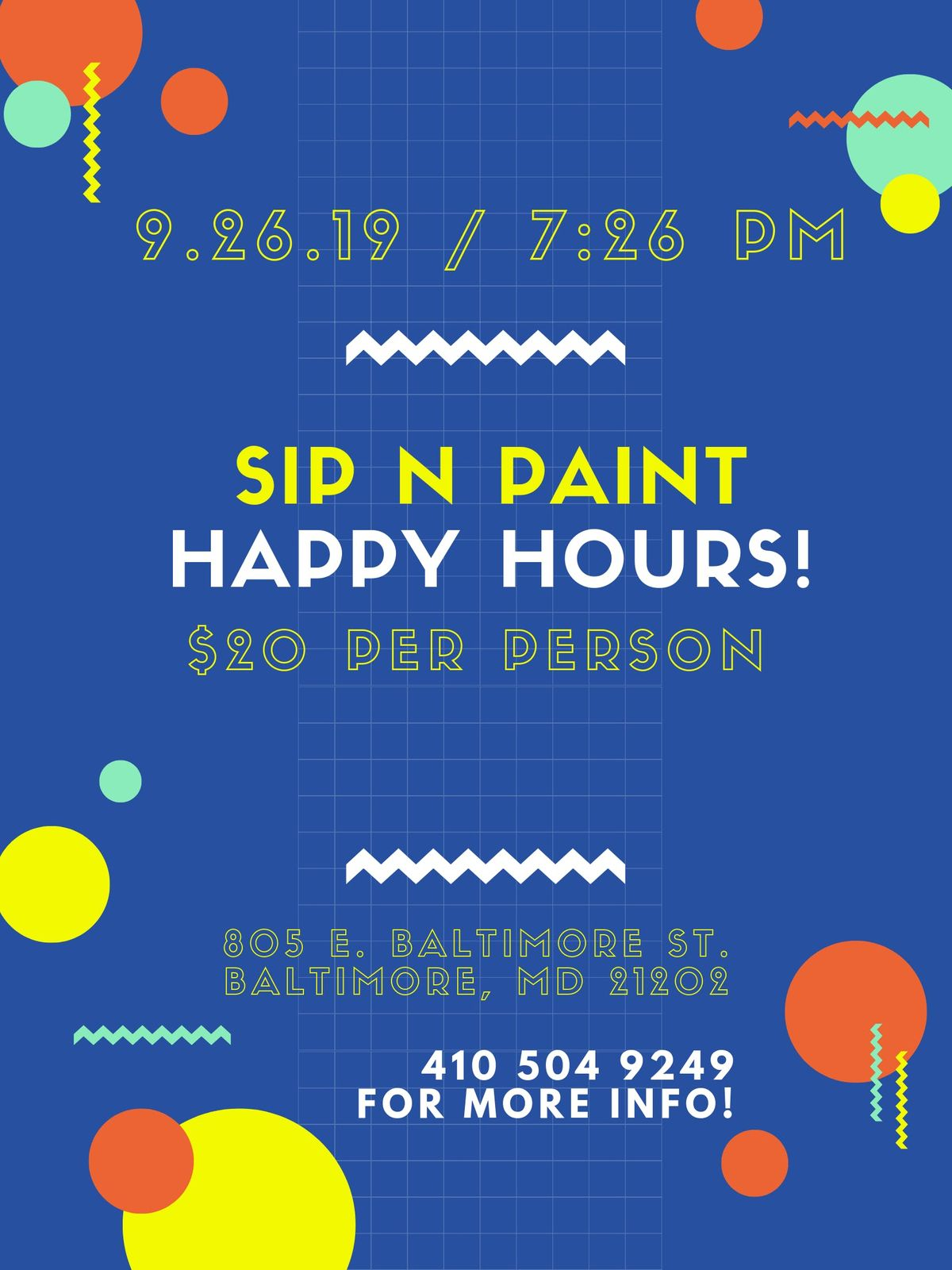Sip N Paint Happy Hours At An Art Gallery