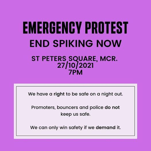 End Spiking Now Emergency Protest, 27 October | Event in Manchester | AllEvents.in