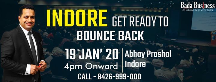 Bounce Back 2.0 Indore by Dr. Vivek Bindra