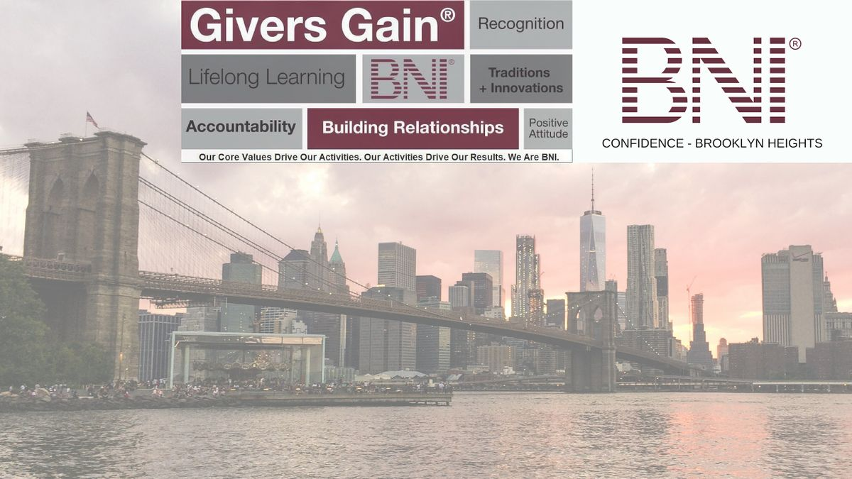 BNI Confidence (Virtual) Accountant Visitor Day-Brooklyn Heights Networking
