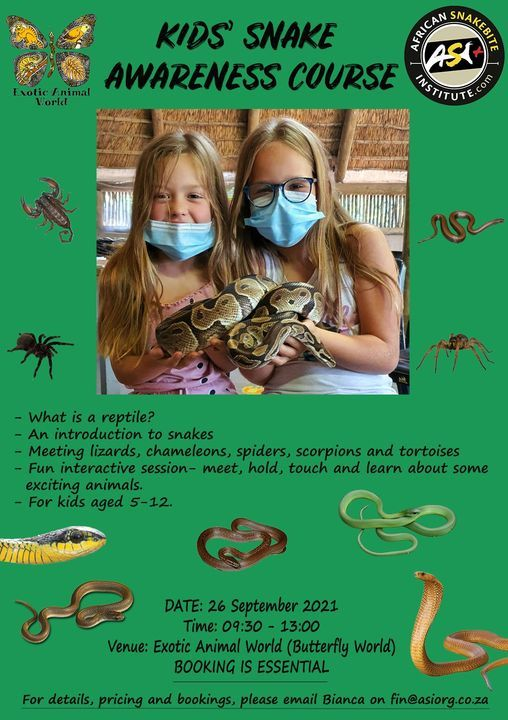 Kids' Snake Awareness course | Event in Brackenfell | AllEvents.in