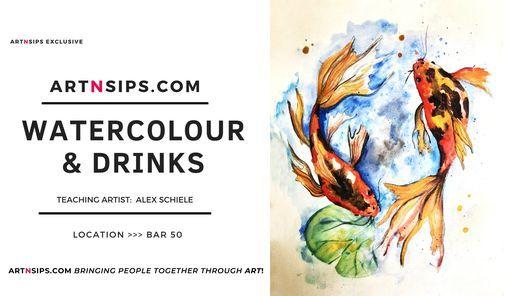 ARTNSIPS Exclusive Watercolour & Drinks > BAR50, 21 January | Event in Copenhagen  | AllEvents.in