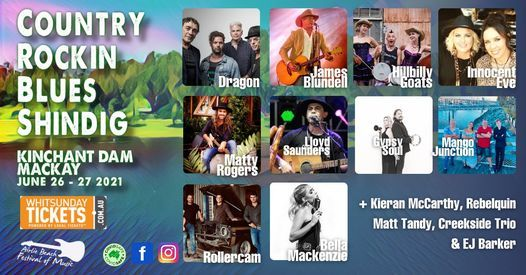 Country Rockin Blues Shindig at Kinchant Dam, Mackay, 26 June   Event in Kinchant Dam   AllEvents.in
