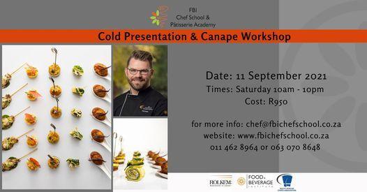 Cold Presentation & Canape Workshop, 11 September | Event in Roodepoort | AllEvents.in