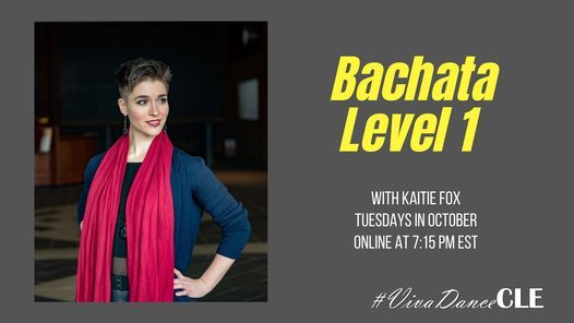 Online Bachata Level 1 with Kaitie   Event in Cleveland   AllEvents.in